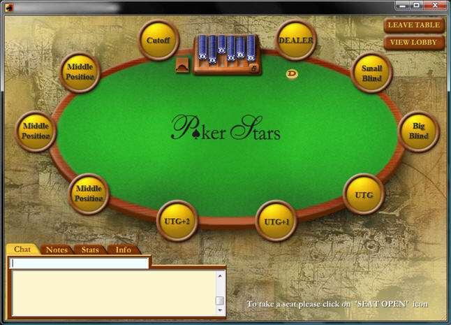 posizioni poker room