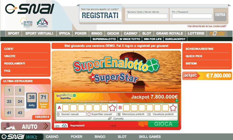 SNAI lotteria