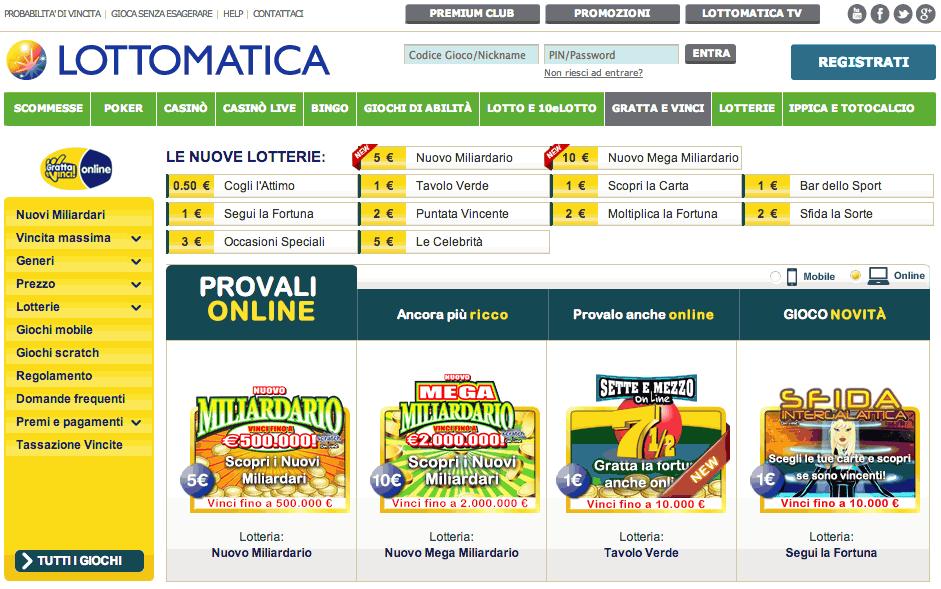 lottomatica 10eLotto SuperEnalotto