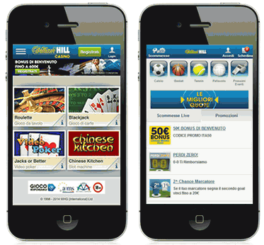 William Hill App Casino e Scommesse