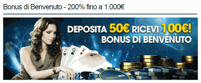 william hill bonus di benvenuto