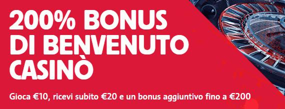 betfair bonus benvenuto casino