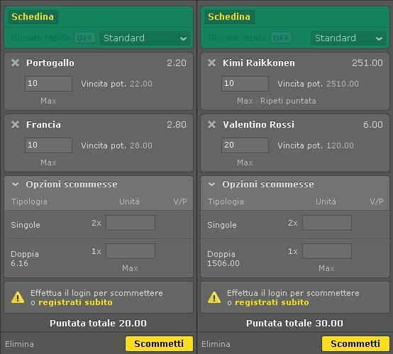 bet365 schedine