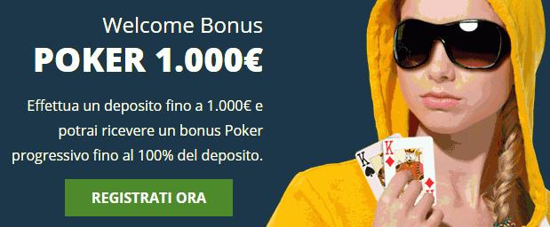 Eurobet Poker Bonus