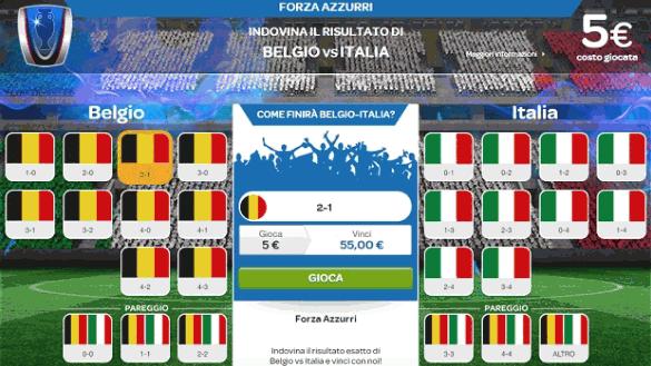 promo speciale sisal belgio italia