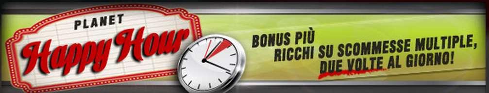 bonus di vincita happy hour
