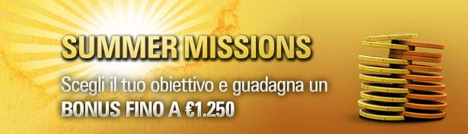 pokerstars bonus summer mission