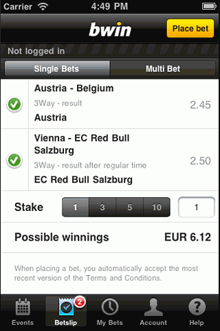 iPhone screenshot1bwin