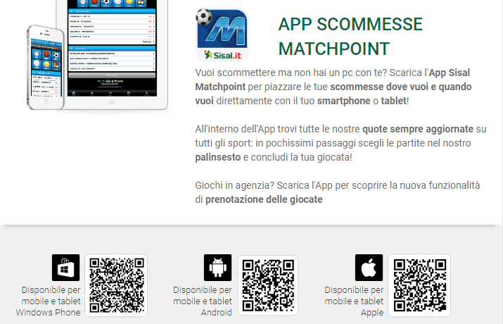 sisal app matchpoin download