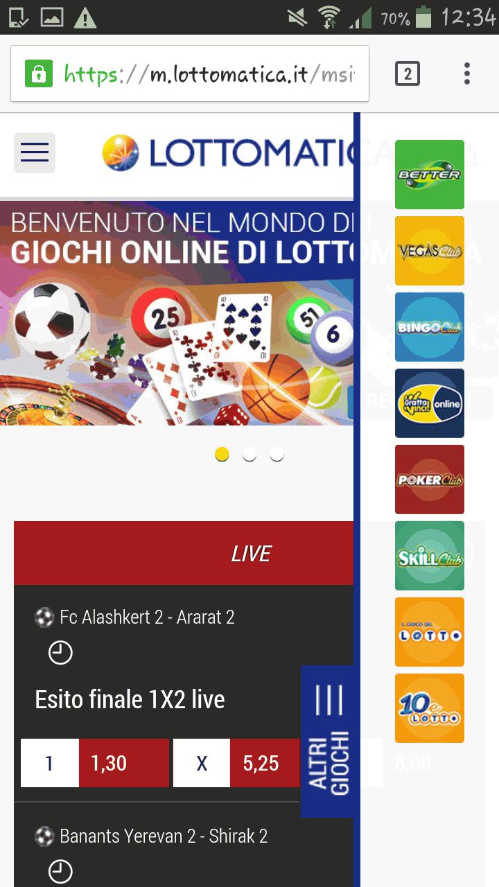 Lottomatica mobile