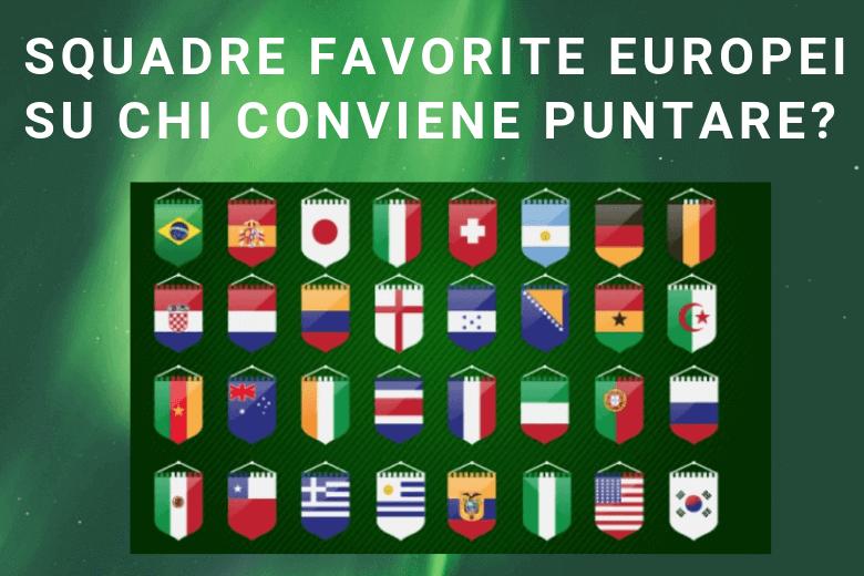 Le squadre favorite Europei 2020 ed i migliori siti per scommettere