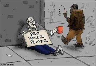 Giocatori di poker al verde