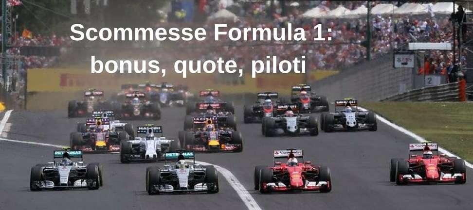Scommesse Formula 1- bonus, quote, piloti