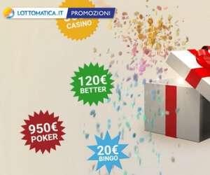 Codice promozionale Lottomatica 2019: bonus prima ricarica 100%