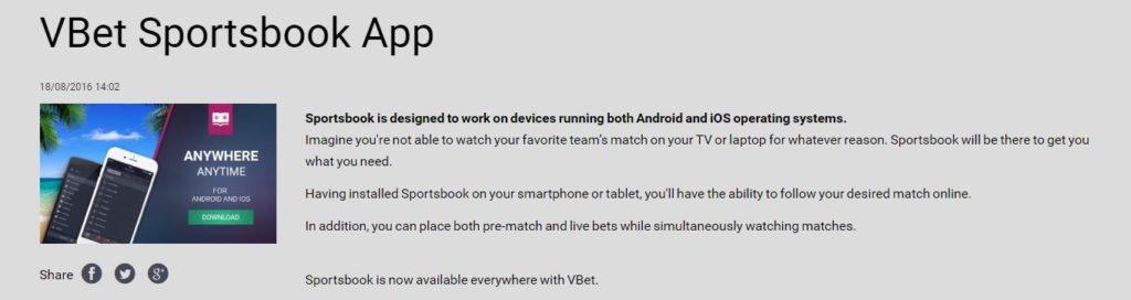 VBet Mobile App