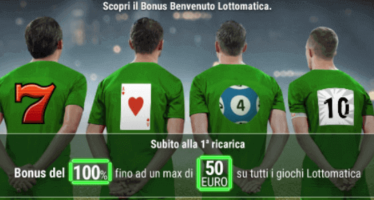 lottomatica bonus benvenuto